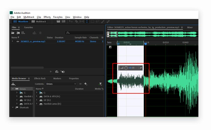 Menghilangkan AudioJungle di Adobe Audition