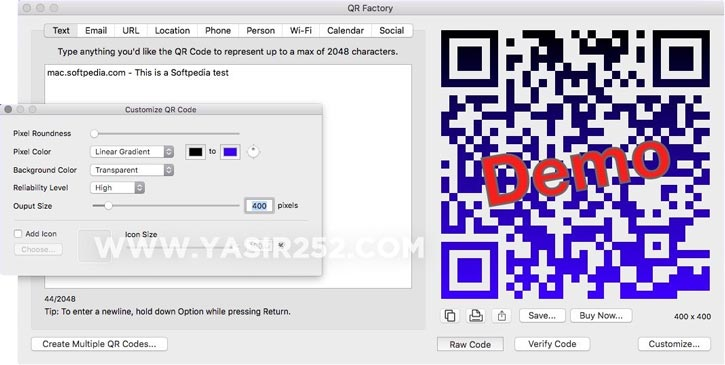 QR Factory Mac Code Creator Full Crack