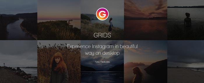 Grids Instagram Windows Desktop Full Features