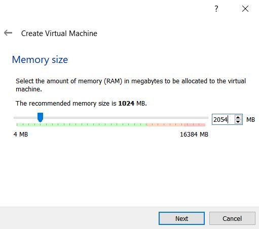 Mengatur ukuran ram mesin virtual pada virtualbox